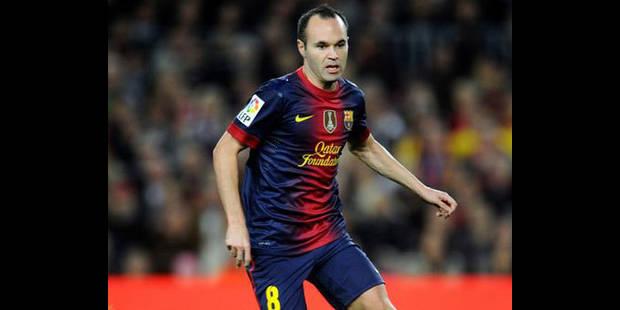 """Iniesta """"rêve"""" de terminer sa carrière au Barça - La DH"""