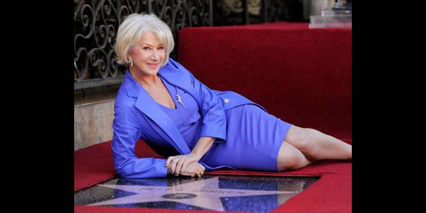 L'actrice Helen Mirren reçoit son étoile à Hollywood - La DH