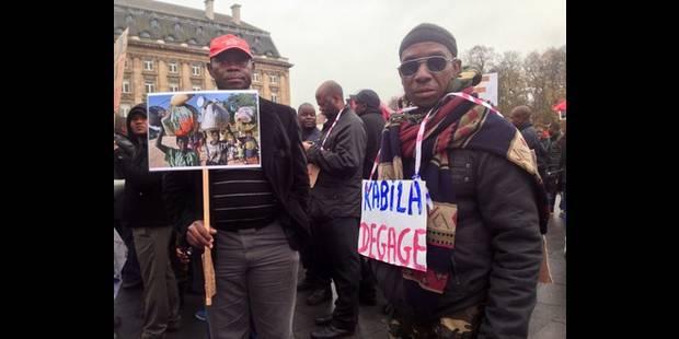 Manifestation pour le départ de Kabila à Bruxelles - La DH