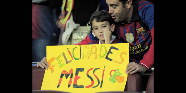 Messi �gale le record de buts en une ann�e de Pel�