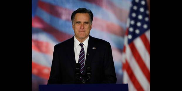 Romney reconnait sa défaite et félicite Obama - La DH