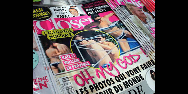 """Les photos de Kate """"topless"""" dans un magazine de Berlusconi"""