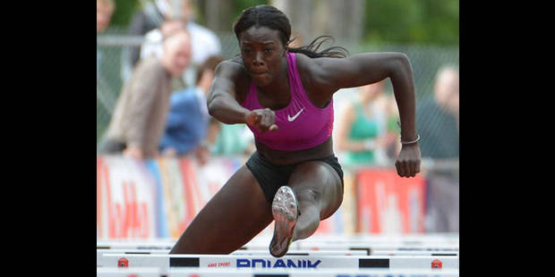 Anne Zagré en finale du 100 m haies - La DH