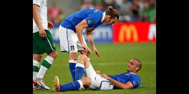 Chiellini forfait pour Angleterre-Italie - La DH
