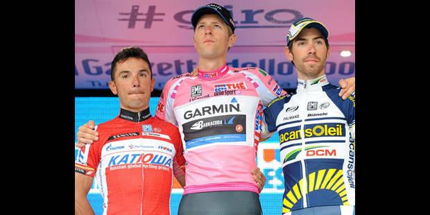 Hesjedal remporte le Giro, De Gendt sur le podium - La DH