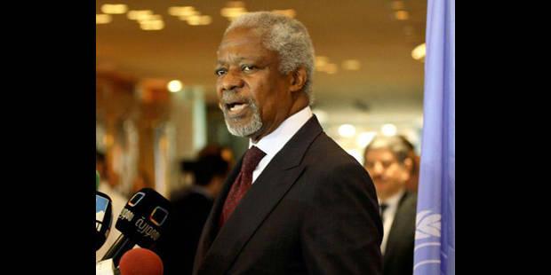 """Kofi Annan arrive à Damas et se dit """"horrifié"""" - La DH"""