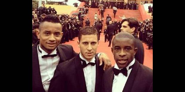 Eden Hazard sur les marches à Cannes
