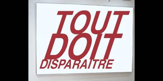 """Un magasin affichant """"Tout doit disparaître"""" victime de cambrioleurs - La DH"""