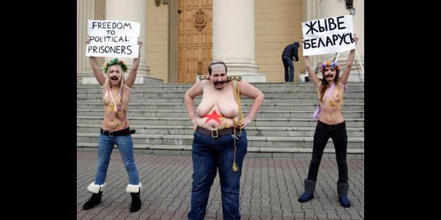 Des militantes seins nus torturées au Belarus - La DH