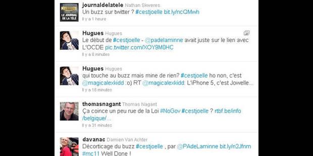 #cestjoelle affole Twitter - La DH