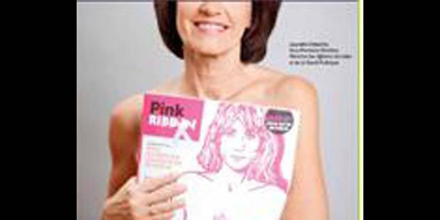 Laurette Onkelinx se dénude contre le cancer du sein - La DH