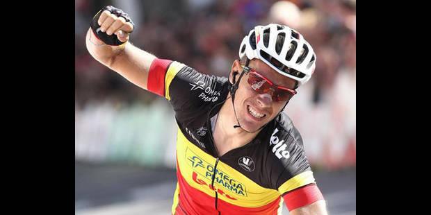 Philippe Gilbert reste 2e au classement du World Tour apr�s le GP de Plouay