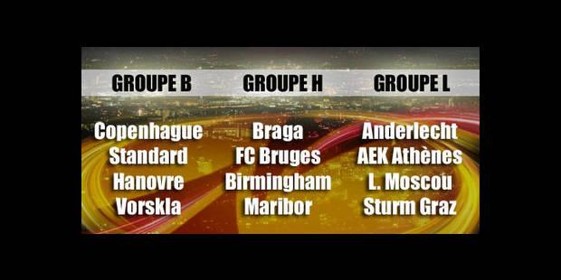 Anderlecht retrouve Athènes, le Standard face à Copenhague, Bruges hérite du dernier finaliste - La DH