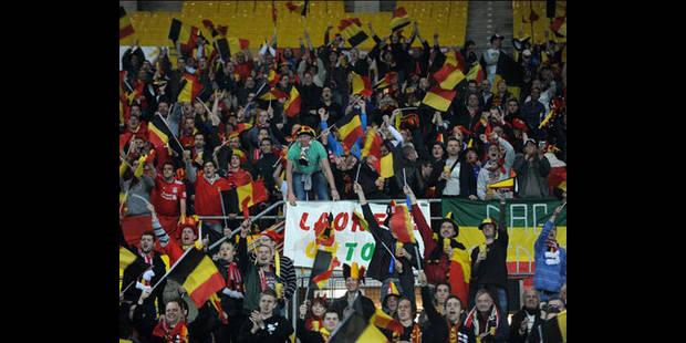Deux mille supporters belges survoltés - La DH