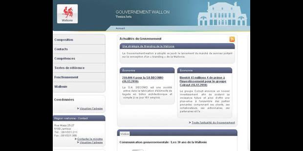 Piratage du site internet du gouvernement wallon - La DH