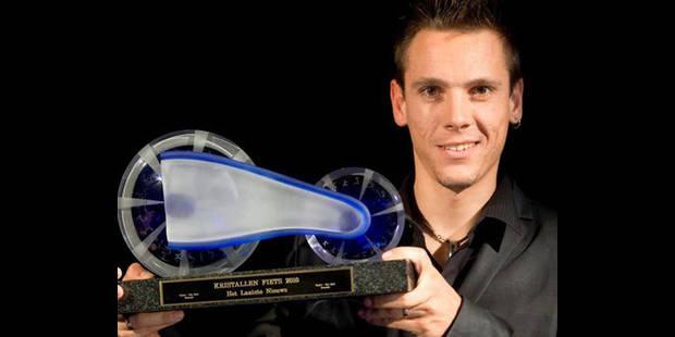 Philippe Gilbert reçoit le Vélo de Cristal - La DH