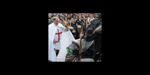 Saint-Georges a vaincu le dragon