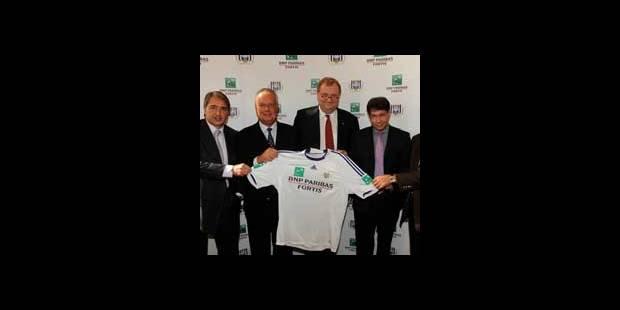 Anderlecht et BNP Paribas Fortis : contrat prolongé jusqu'en 2014
