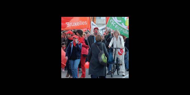 650 enseignants dans les rues de Bruxelles - La DH