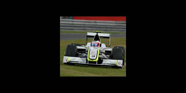 Jenson Button (Brawn) à la traîne - La DH