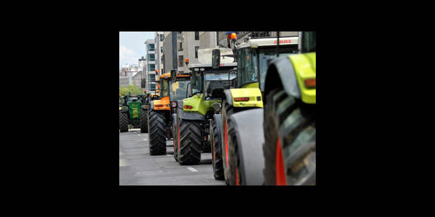 Manifestation d'agriculteurs: les tracteurs ont quitté Bruxelles - La DH