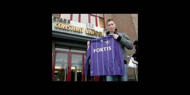 Cordier a signé au Sporting d'Anderlecht