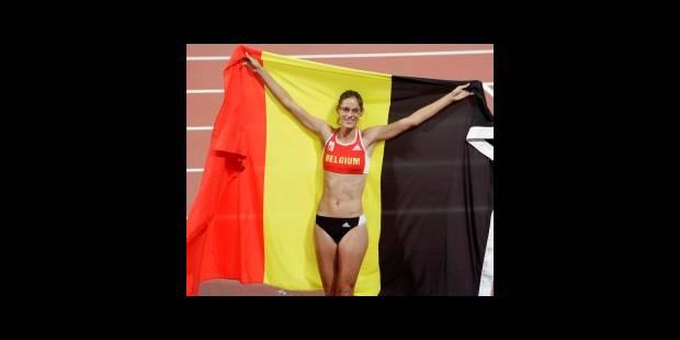 JO-Saut en hauteur: Tia Hellebaut médaillée d'or