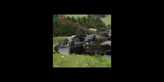 Un hélico se crashe dans les Ardennes - La DH