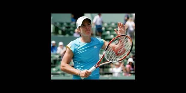 WTA Miami: Justine Henin en 1/8e - La DH