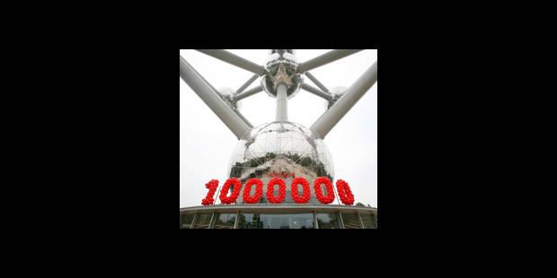 Un million d'entrées à l'Atomium