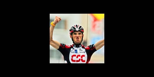 Schleck remporte l'étape, Landis en jaune
