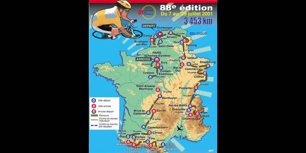 Tour de France: le parcours