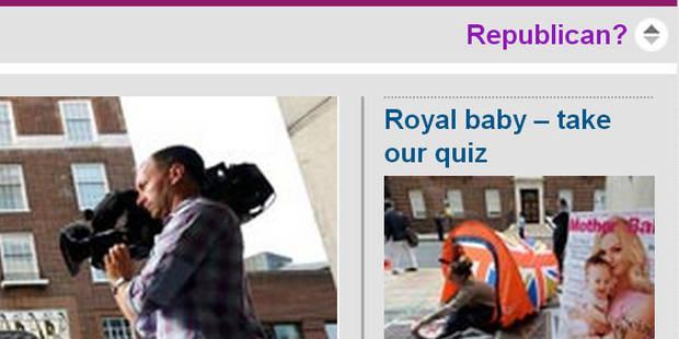 """Marre du """"Royal baby"""" ? Le Guardian a tout prévu ! - La DH"""