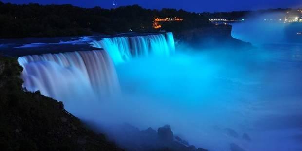 Le Niagara en bleu pour le Royal Baby - La DH
