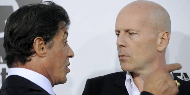 """Stallone flingue Bruce Willis, """"cupide et fainéant"""" - La DH"""