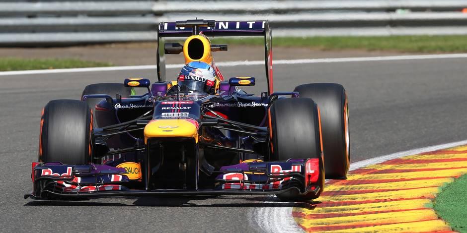 GP de Belgique: Vettel meilleur temps devant Webber