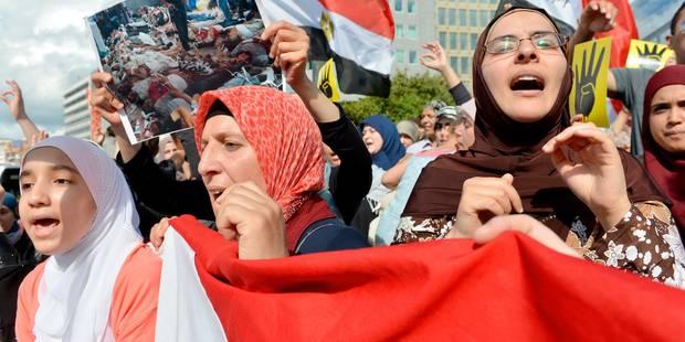 Manifestations anti et pro-Morsi à Bruxelles - La DH