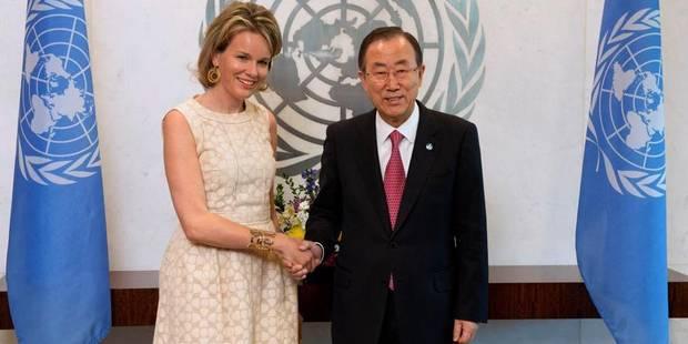 """La reine Mathilde évoque le """"Global Compact"""" avec Ban Ki-moon - La DH"""