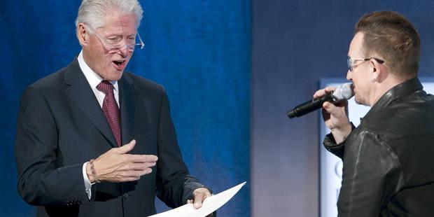 Bono imite à merveille Bill Clinton - La DH