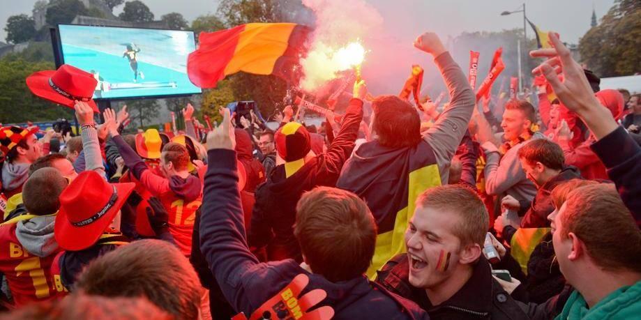 Namur - Place du Grognon: match belgique croatie - qualificatif coupe du monde