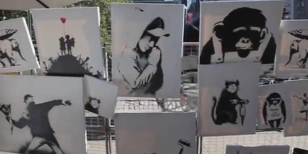 20 toiles de Banksy à vendre pour 60$ - La DH