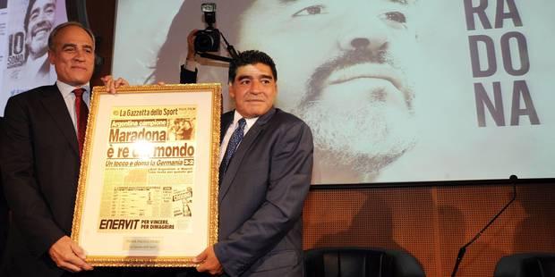 Maradona doit toujours 39 millions d'euros au fisc italien - La DH