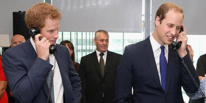 Les princes Harry et William piratés
