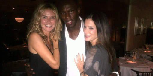 Usain Bolt prend du bon temps avec Sandra Bullock et Heidi Klum - La DH