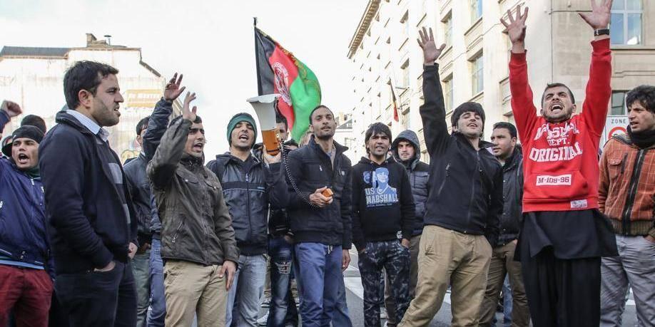 Nouvelle manifestation afghane au coeur de Bruxelles