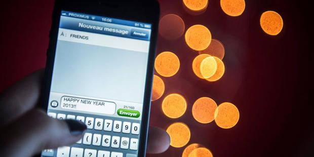 Plus de 33 millions de SMS envoyés la nuit de Noël - La DH