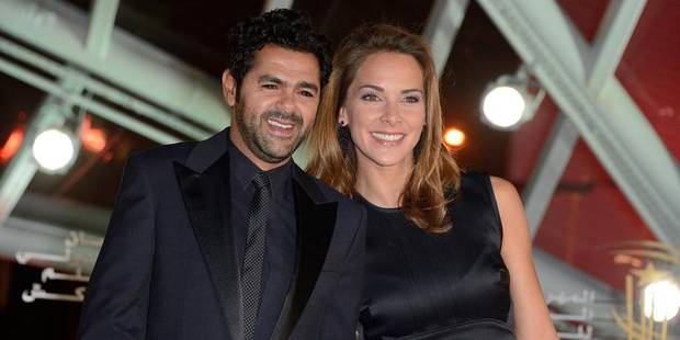 Jamel Debbouze and his wife Melissa Theuriau attending the screening of 'Like Father, Like Son' as part of the 13th Marrakech Film Festival, in Marrakech, Morocco on December 1, 2013. Photo by Nicolas Briquet/ABACAPRESS.COM Reporters / Abaca424726_022