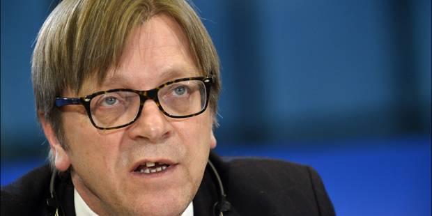 Verhofstadt: candidat libéral à la présidence de la Commission européenne - La DH
