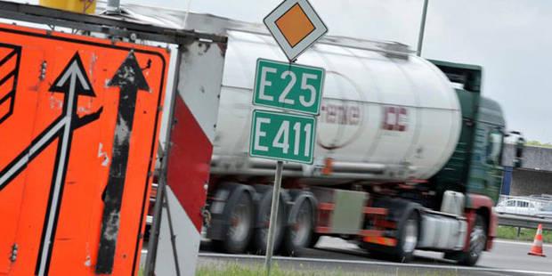 Camion en feu sur la E411: la circulation rétablie vers Bruxelles - La DH