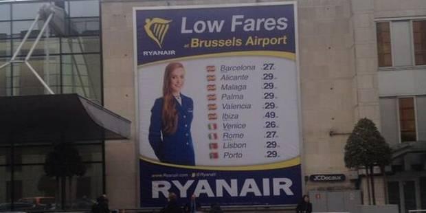 Ryanair débarque à Zaventem et s'affiche - La DH